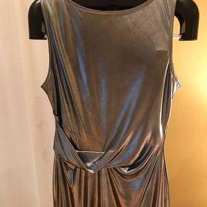 Rachel Roy metallic dress with a twist.